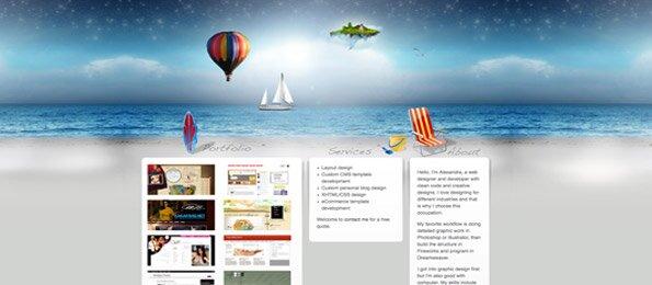 12 сайтов в дизайне которых используется водная тематика