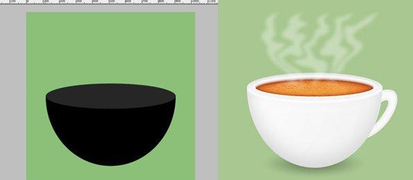 Урок photoshop по созданию чашки