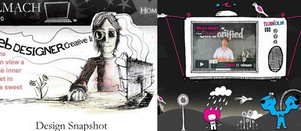 50 красивых дизайнов вэб сайтов нарисованных от руки