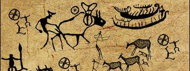 Кисти в виде доисторических рисунков