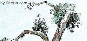 Кисть в виде прикольных деревьев