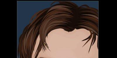 Рисуем волосы в Illustrator