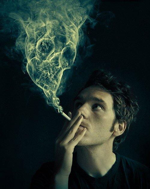 Манипуляции с дымом - реалистичные фотки.