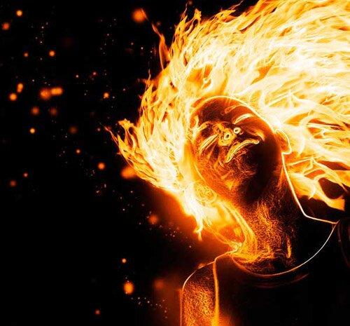 Создание огненных эффектов.