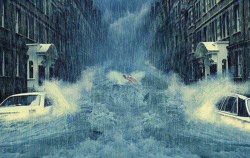 Потоп в городе.
