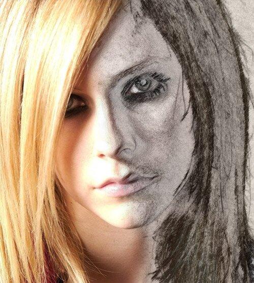 Эффект карандаша побыстрому в photoshop.