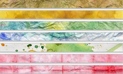 23 текстуры в стиле водяных цветов.