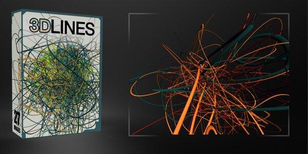 Креативные 3d линии
