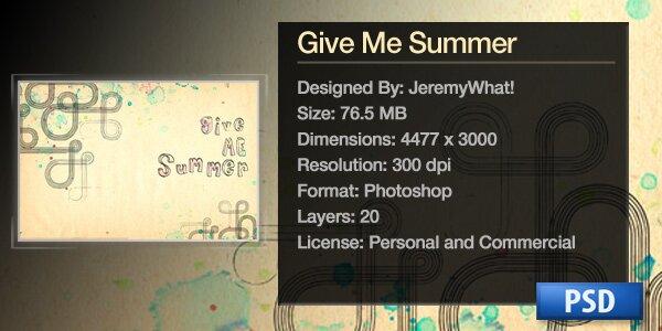 Дайте мне лета - бесплатный PSD