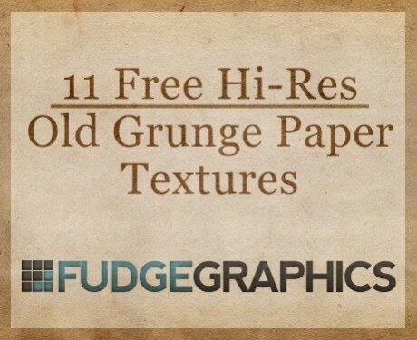 11 высококачественных текстур гранж-бумаги