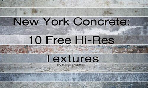 10 текстур Нью-Йорского бетона.
